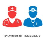doctor vector icon set... | Shutterstock .eps vector #533928379