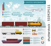 logistics infographic elements... | Shutterstock .eps vector #533929111