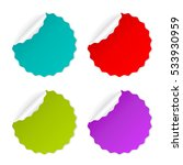 round curled vector sticker set ... | Shutterstock .eps vector #533930959