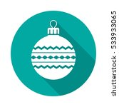 christmas ball circle icon with ... | Shutterstock .eps vector #533933065