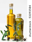 olives and bottle with olive...   Shutterstock . vector #53393584