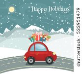 christmas or new year greeting... | Shutterstock .eps vector #533951479