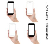 close up hand hold phone... | Shutterstock . vector #533951647
