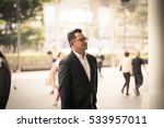 asian man in business look. | Shutterstock . vector #533957011