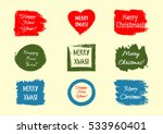 set of stickers with the text ... | Shutterstock .eps vector #533960401