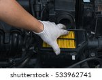 technician is changing new air... | Shutterstock . vector #533962741