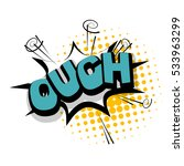 lettering ouch  blame ... | Shutterstock .eps vector #533963299