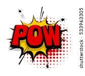 lettering pow  shoot gun. comic ... | Shutterstock .eps vector #533963305