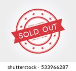 Sold Out. Stamp Sign