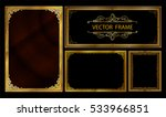 set of gold photo frame with... | Shutterstock .eps vector #533966851