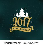 happy new year 2017 text design.... | Shutterstock .eps vector #533966899
