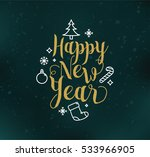 happy new year 2017 text design.... | Shutterstock .eps vector #533966905