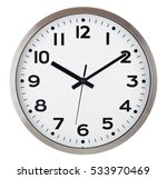 wall clock isolated on white... | Shutterstock . vector #533970469