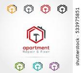 house repair logo | Shutterstock .eps vector #533975851