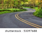 Winding Country Road In...