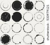 distressed circle stamp vector... | Shutterstock .eps vector #533979121