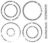 grunge stamp draft mockups set... | Shutterstock .eps vector #533980459
