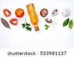italian foods concept and menu... | Shutterstock . vector #533981137