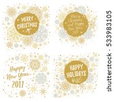 merry christmas  happy holidays ... | Shutterstock .eps vector #533983105
