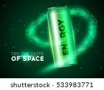 jar energy drink in space.... | Shutterstock .eps vector #533983771