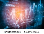 stock market or forex trading... | Shutterstock . vector #533984011