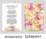 vintage delicate invitation... | Shutterstock . vector #533984947