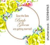 vintage delicate invitation... | Shutterstock . vector #533984965