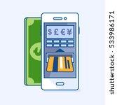 vector illustration of atm cash ... | Shutterstock .eps vector #533986171