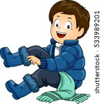 illustration of a little boy... | Shutterstock .eps vector #533989201