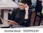 beautiful business lady... | Shutterstock . vector #533990134