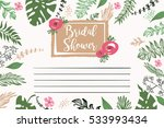 bridal shower vector template.... | Shutterstock .eps vector #533993434