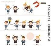 collaborative teamwork share... | Shutterstock .eps vector #533997931