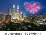 kuala lumpur skyline with...   Shutterstock . vector #533998444