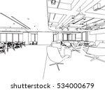 interior outline sketch drawing ... | Shutterstock .eps vector #534000679