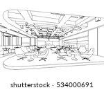 interior outline sketch drawing ... | Shutterstock .eps vector #534000691