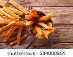 roasted sweet potatoes with... | Shutterstock . vector #534000805
