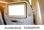 closeup lcd rear seat on the... | Shutterstock . vector #534000949