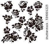 flower illustration object | Shutterstock .eps vector #534001225