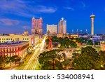 san antonio  texas  usa skyline. | Shutterstock . vector #534008941