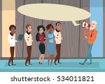 businessman boss hold megaphone ... | Shutterstock .eps vector #534011821