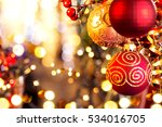christmas and new year... | Shutterstock . vector #534016705