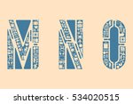 icon fonts   mno | Shutterstock .eps vector #534020515