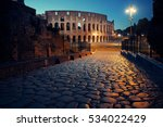 colosseum at night in rome italy | Shutterstock . vector #534022429