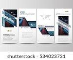 flyers set  modern banners.... | Shutterstock .eps vector #534023731