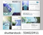 social media posts set.... | Shutterstock .eps vector #534023911