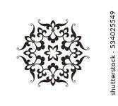 circular abstract floral...   Shutterstock .eps vector #534025549