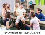 happy european students... | Shutterstock . vector #534025795