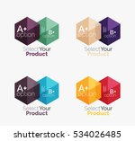 set of abstract geometric... | Shutterstock .eps vector #534026485