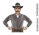 isolated cowboy cartoon design | Shutterstock .eps vector #534028654