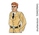 inspector man cartoon design   Shutterstock .eps vector #534029041